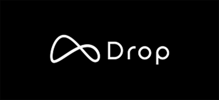 Drop logo white